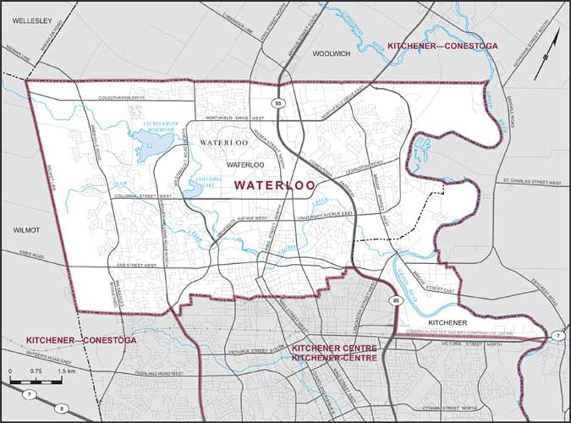 Waterloo riding boundary