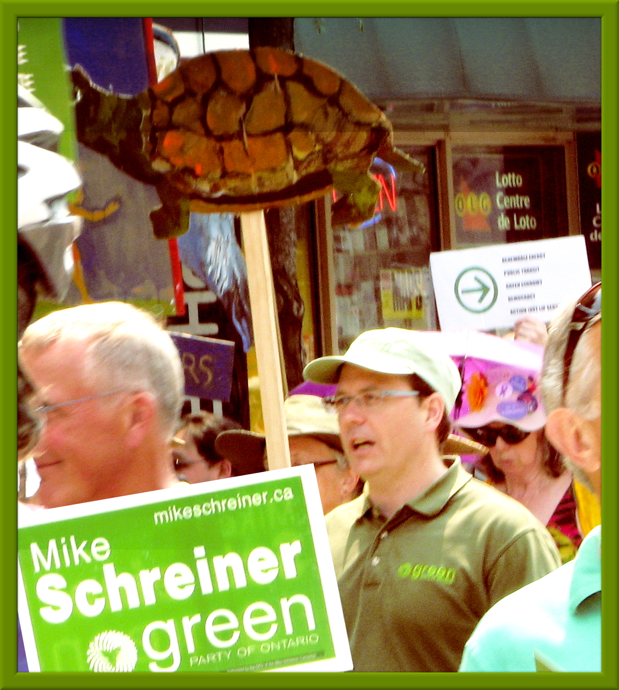 Mike Schreiner marching for Jobs, Justice & Climate 2015