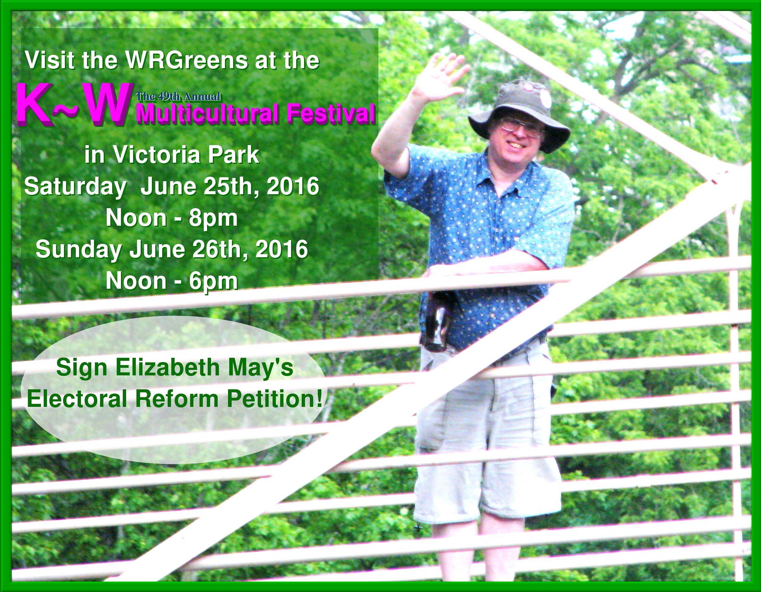join WRGreens @ K~W Multicultural Fest 2016
