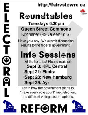 FVC Electoral Reform Info Sessions poster