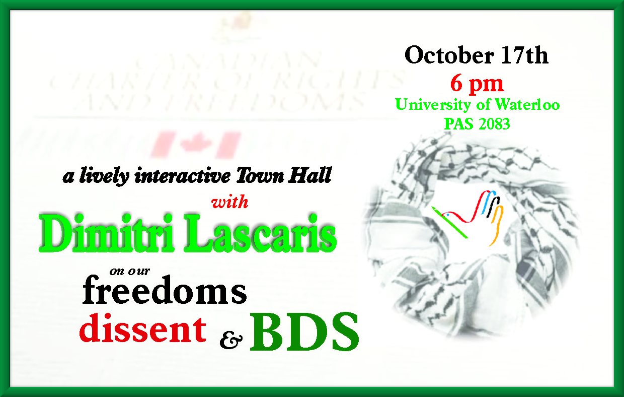 Cross Cultures Interactive Town Hall with Dimitri Lascaris poster