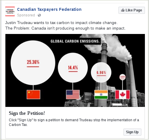 Canadian Taxpayers Federation Petition