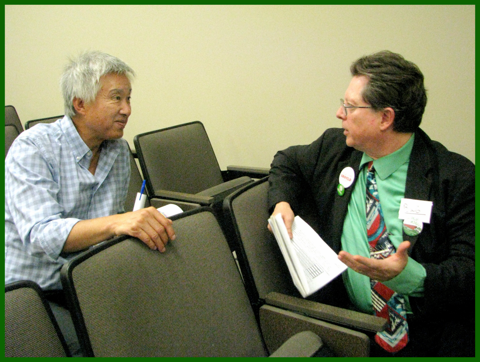 Bob Jonkman chats with LPC Ray Wong