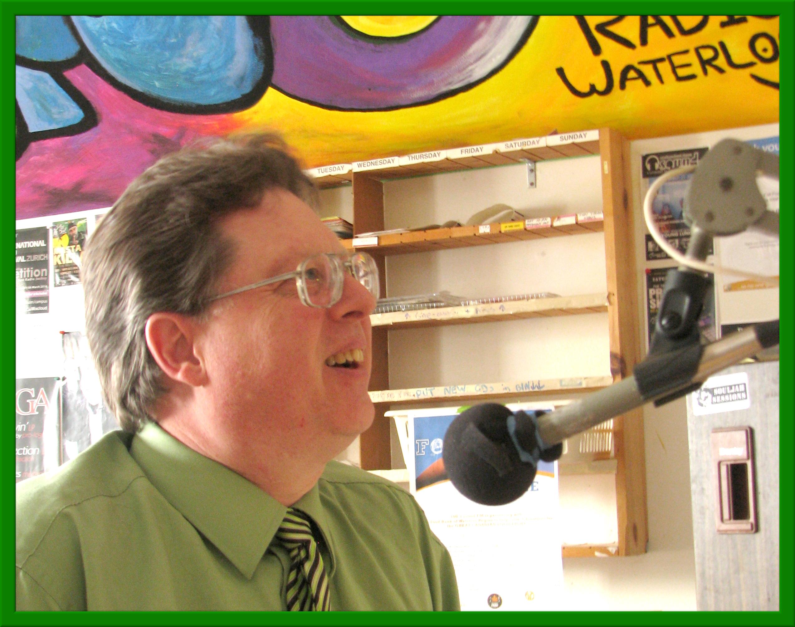 Bob Jonkman on air at Sound FM