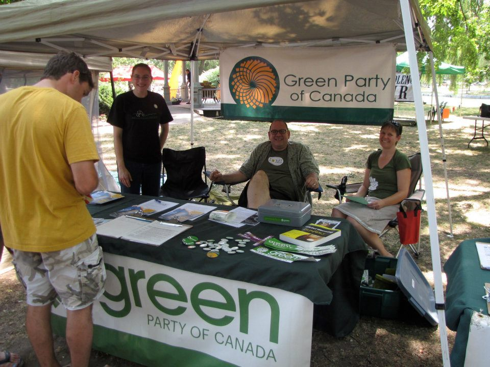 Green Party at Nonviolence Festival Day In The Park 2012