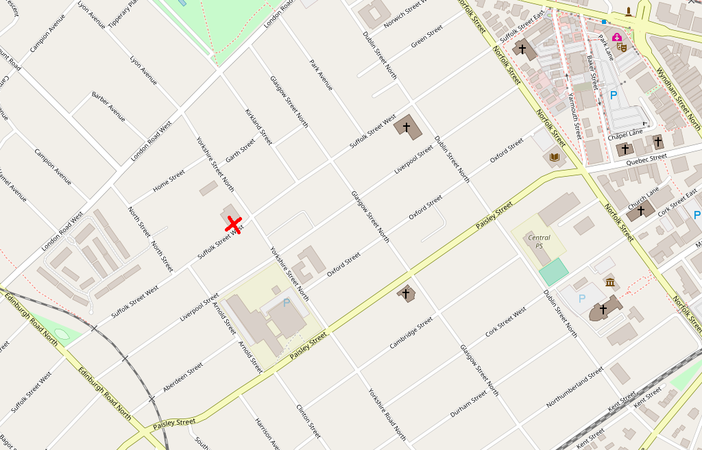OpenStreetMap to Guelph Campaign Office, 163 Suffolk Street West, Guelph, Ontario