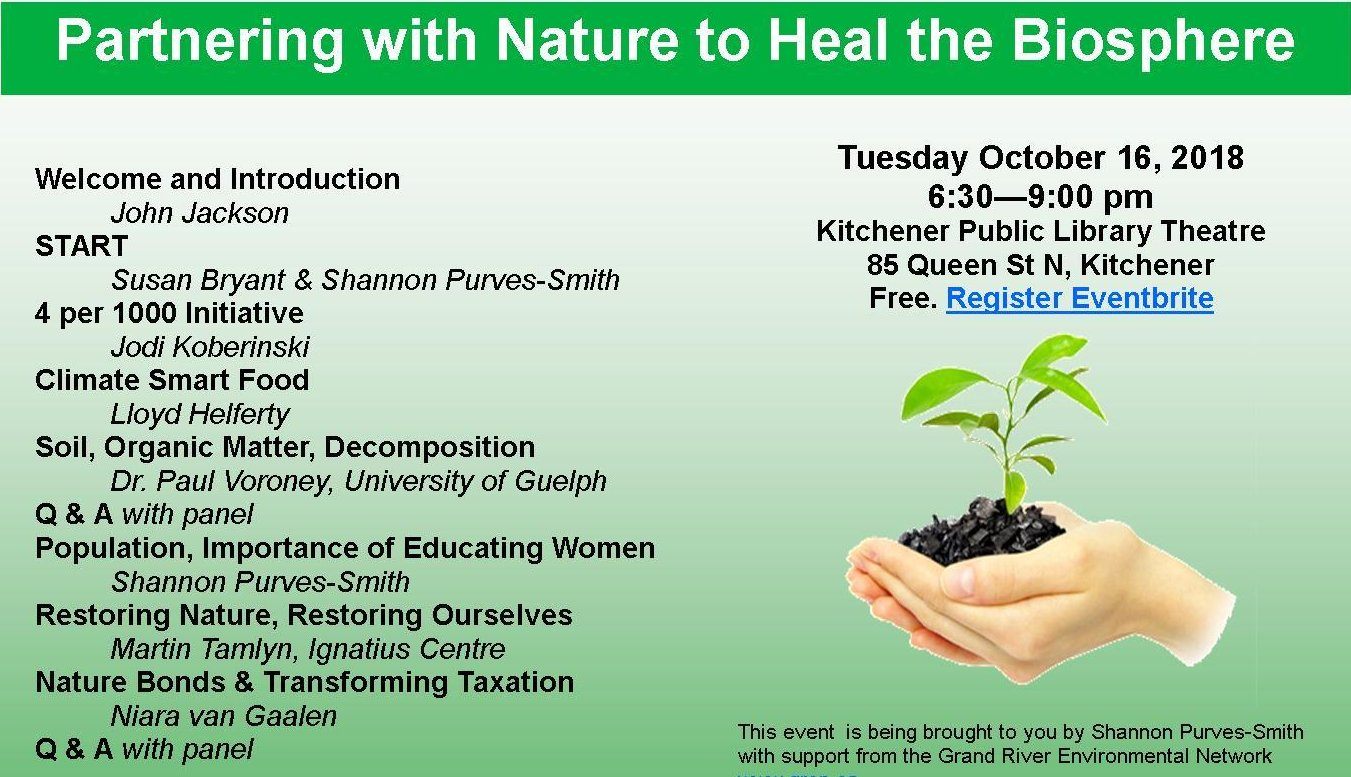 Partnering With Nature To Heal The Biosphere | list of panelists and event date/time/venue