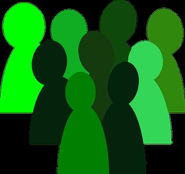 Green cartoon silhouettes