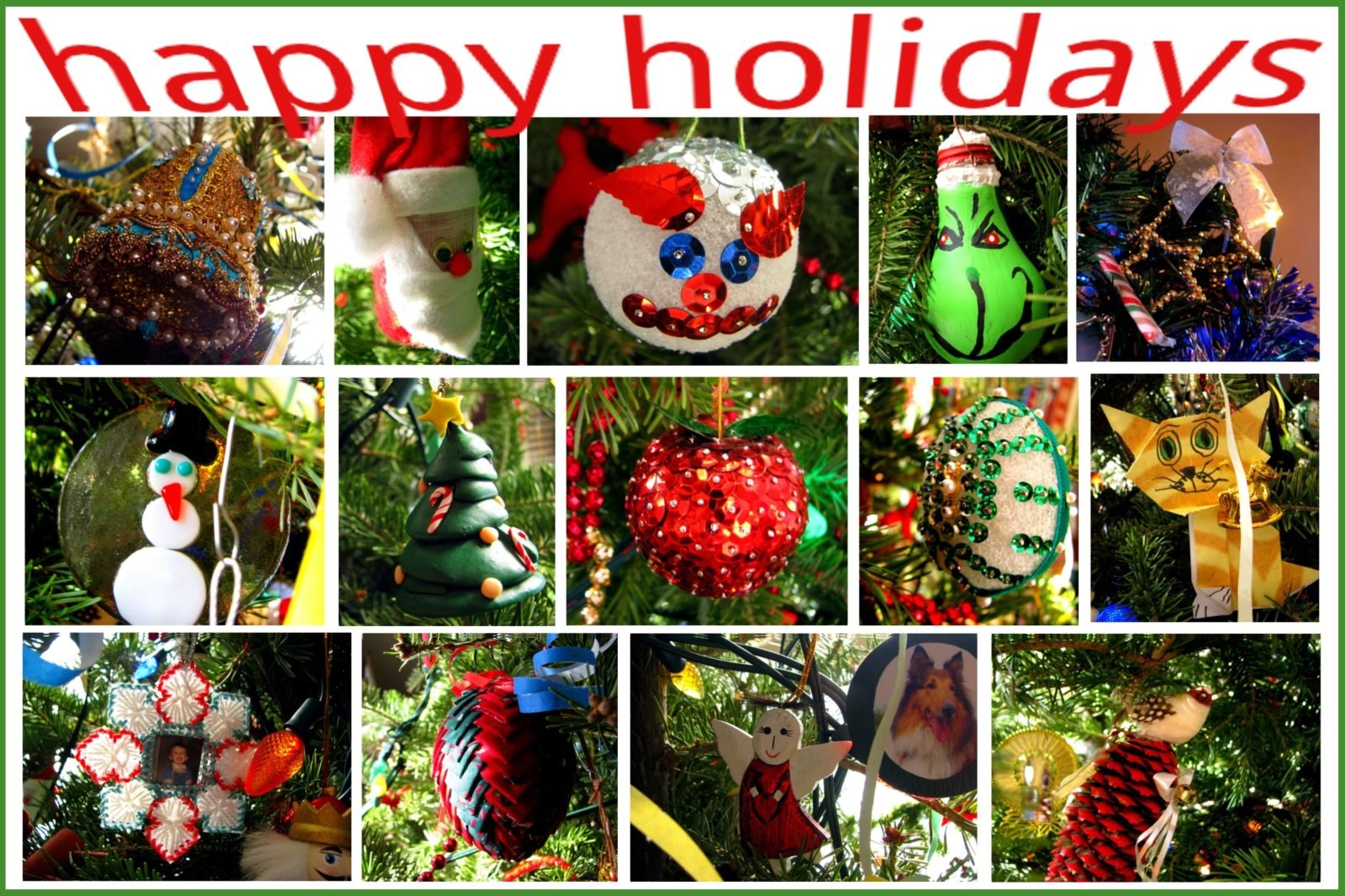 collection of christmas decorations